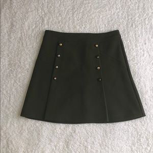 Military inspired  mini skirt